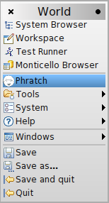 Phratch in the World Menu